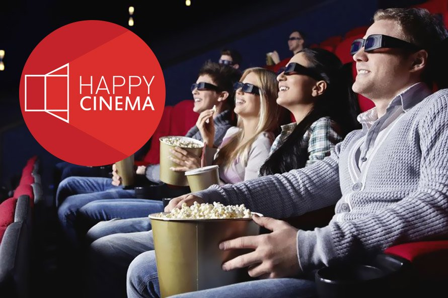 Сайт кинотеатра Happy Cinema