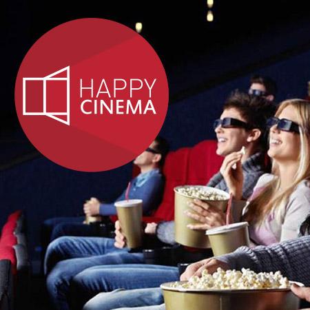 Сайт современного семизального кинотеатра Happy Cinema